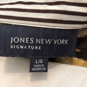 Jones New York Tops - Jones New York size L animal print button down top